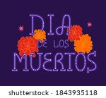 day of the dead greeting card.... | Shutterstock .eps vector #1843935118