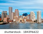 boston skyline from harbor | Shutterstock . vector #184396622