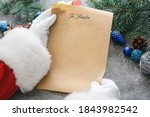 Santa With Letter And Christmas ...