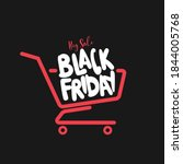 black friday shopping concept.... | Shutterstock .eps vector #1844005768