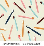 seamless pattern of colored...   Shutterstock .eps vector #1844012305