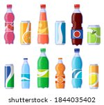 soft drink cans and bottles....   Shutterstock .eps vector #1844035402