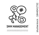 smm management thin line icon ... | Shutterstock .eps vector #1844041732
