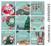 christmas post feed for social... | Shutterstock .eps vector #1844060065