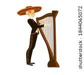 mexican musician mariachi... | Shutterstock .eps vector #1844065072
