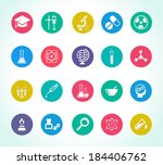 scientific research icons for... | Shutterstock .eps vector #184406762