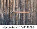 Wooden Gate With Rusty Metal...