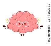 cute funny human brain organ...   Shutterstock .eps vector #1844163172