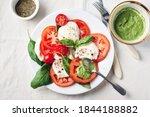 Caprese Salad. Tomatoes ...