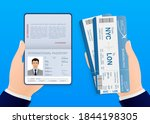hand  holding international...   Shutterstock .eps vector #1844198305
