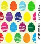 easter eggs | Shutterstock .eps vector #184421312