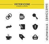 ui icons set with basket  key...