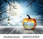 holiday halloween background... | Shutterstock .eps vector #1844214505
