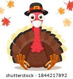 turkey bird in a medical mask ...