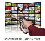 lcd tv panels. television... | Shutterstock . vector #184427405