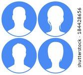 avatars set blue | Shutterstock .eps vector #184428656