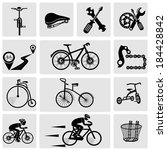 bicycles. isolated vector bike...