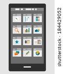 mobile phone apps trendy flat... | Shutterstock . vector #184429052