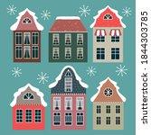 winter christmas houses... | Shutterstock .eps vector #1844303785