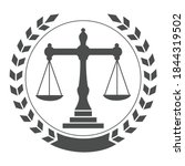 law balance and attorney... | Shutterstock .eps vector #1844319502
