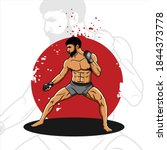 mma fighter illustrationfor ...   Shutterstock .eps vector #1844373778