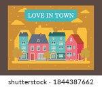creative love in town poster... | Shutterstock .eps vector #1844387662