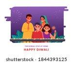 illustration of cheerful family ... | Shutterstock .eps vector #1844393125