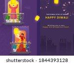 happy diwali celebration urban... | Shutterstock .eps vector #1844393128