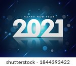 2021 happy new year text with... | Shutterstock .eps vector #1844393422