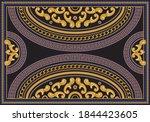vector carpet print on a black... | Shutterstock .eps vector #1844423605