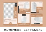 set of editable square banners... | Shutterstock .eps vector #1844432842