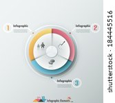 modern infographics options... | Shutterstock .eps vector #184445516