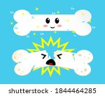 healthy happy bone and sick sad ... | Shutterstock .eps vector #1844464285