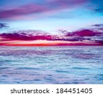 blue sea and clouds on sky | Shutterstock . vector #184451405