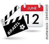 brazil ciak calendar | Shutterstock . vector #184453055