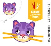 printable educational game with ... | Shutterstock .eps vector #1844536348
