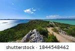 Small photo of Celinka viewpoint, near Drage, Croatia, overlooking the Adriatic sea (left) and the Vransko lake (right)