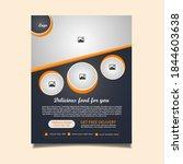 restaurant food flyer vector... | Shutterstock .eps vector #1844603638