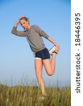 athletics young woman... | Shutterstock . vector #18446395