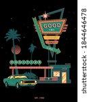 digital poster  vintage style ... | Shutterstock .eps vector #1844646478