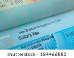 passport stamp visa for travel... | Shutterstock . vector #184466882