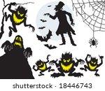 halloween design elements ... | Shutterstock .eps vector #18446743