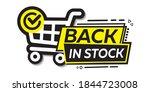 back in stock  bright vector... | Shutterstock .eps vector #1844723008