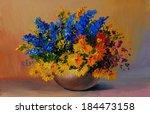 Oil Painting   Colorful Bouquet ...