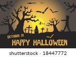a scary halloween scene with... | Shutterstock .eps vector #18447772