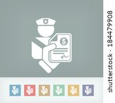 policeman fine icon   Shutterstock .eps vector #184479908