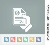 payment document   Shutterstock .eps vector #184482122