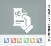 approved document | Shutterstock .eps vector #184482506