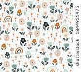 seamless floral pattern with... | Shutterstock .eps vector #1844925475