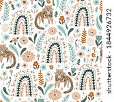 seamless pattern with floral... | Shutterstock .eps vector #1844926732